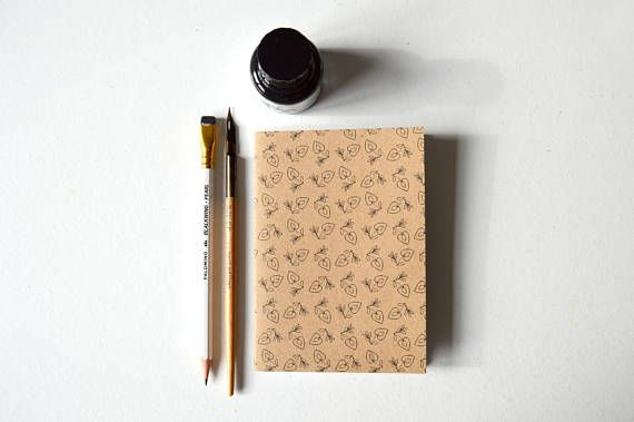 Notebook  A6 RECYCLED ECO-FRIENDLY 'folk heart'