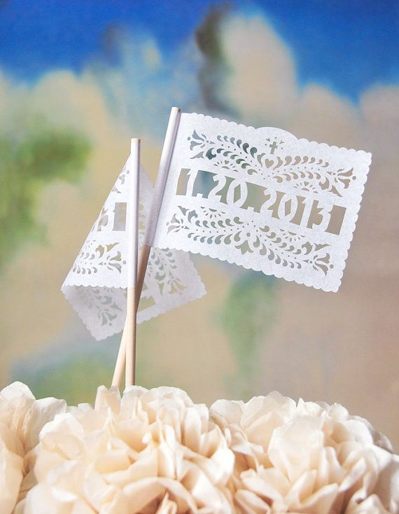 Centerpiece Flags 1 doz  Personalized SANTA CRUZ design by AyMujer