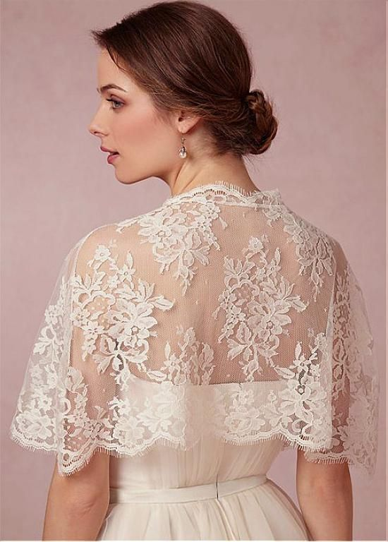 Buy discount Charming Lace Jewel Neckline Wedding Shawl at Laurenbridal.com