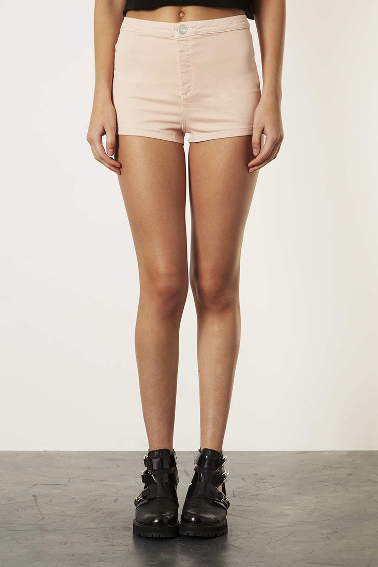 MOTO Pale Pink Denim Hotpants - Shorts - Clothing - Topshop Indonesia