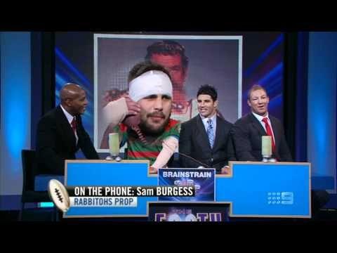 ▶ Beau Ryan as Sam Burgess on The Footy Show Australia 14.06.12 - YouTube