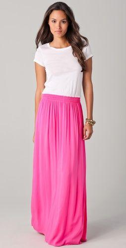 hot pink splendid tee maxi dress