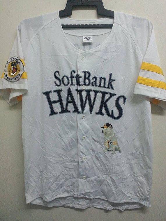 SALE Fukuoka SoftBank Hawks MLB Japanesse Club by SuzzaneVintage