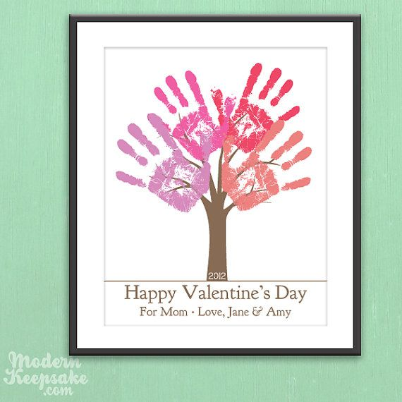 DIY Personalized Valentine's Day Gift  by PERSONALIZEDprints, $15.00. I did this for grandmas and great grandma and they loved them! Keepsake!: Personal Valentine'S, Happy Valentine'S, Valentine Day Cards, Valentines Day, Valentine'S S Day Fun, Valentine Gifts, Valentine Day Gifts