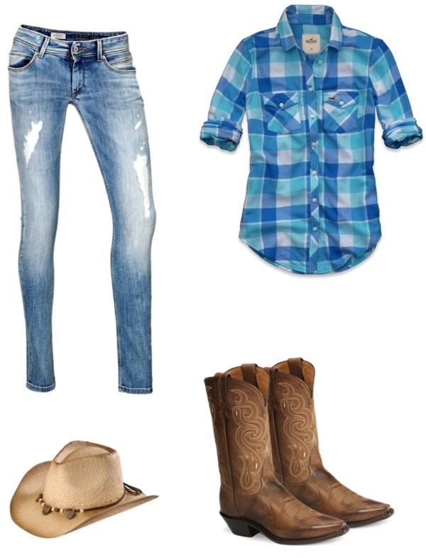 """""""cowgirl style"""" by alexrebber ❤ liked on Polyvore"""