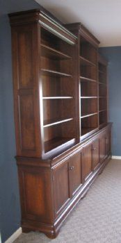 Custom Cherry Bookcase Wall Unit   Country Lane Furniture