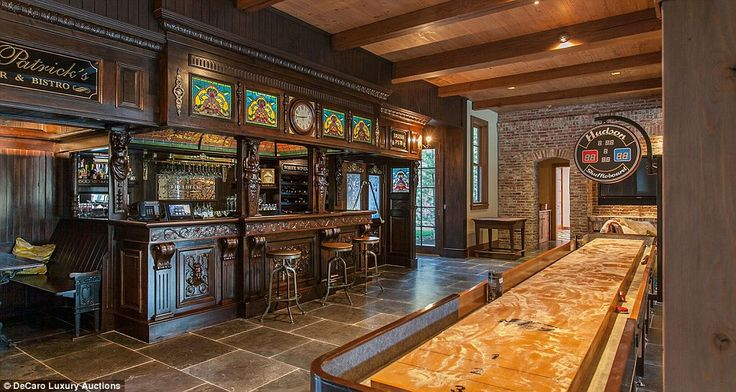 This Irish pub is situated on a sprawling estate in Idaho which has just gone on the market, and is set to fetch $21million