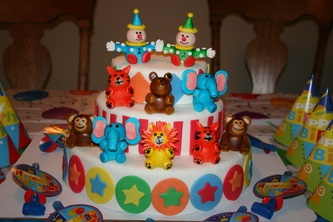 Twin birthday cake.