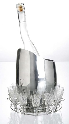 Uluvka ice bucket and glasses