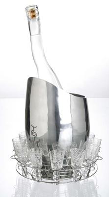 Uluvka ice bucket and glasses