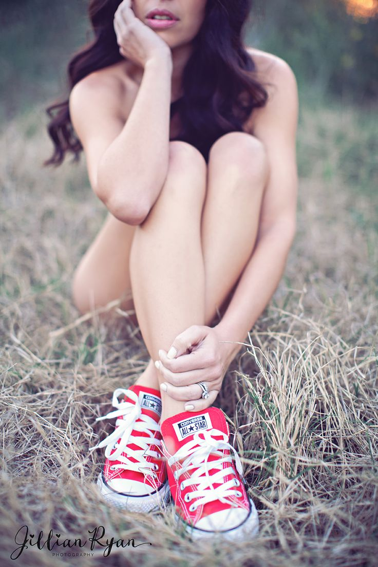red converse for an outdoor boudoir shoot Jillian Ryan Photography