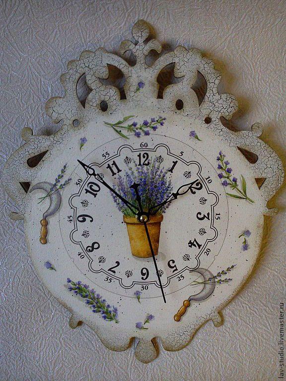 "Часы для дома ручной работы. Ярмарка Мастеров - ручная работа часы ""Прованс"". Handmade."