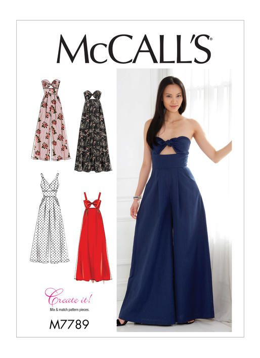 M7789 | Misses\' Dresses and Jumpsuits Sewing Pattern | McCall\'s ...
