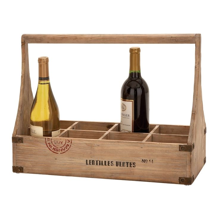 8-Bottle Wine Holder by Countryside Finds via Luxeyard