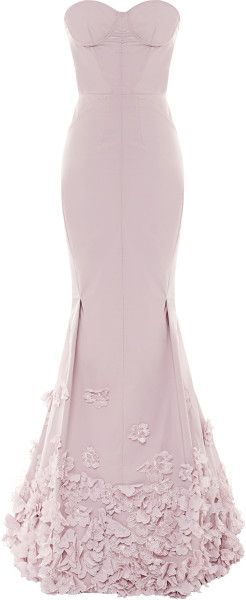 Nina Ricci Floralappliquãd Taffetta Gown in Pink (Rose) - dressmesweetiedarling
