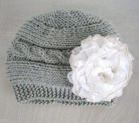 Girl baby hat Baby Girl Knit Hat Knit Newborn от PrettyBagsByMia