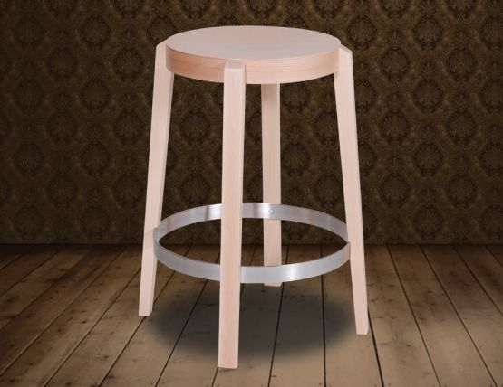 Natural Beechwood Punton Kitchen Stool