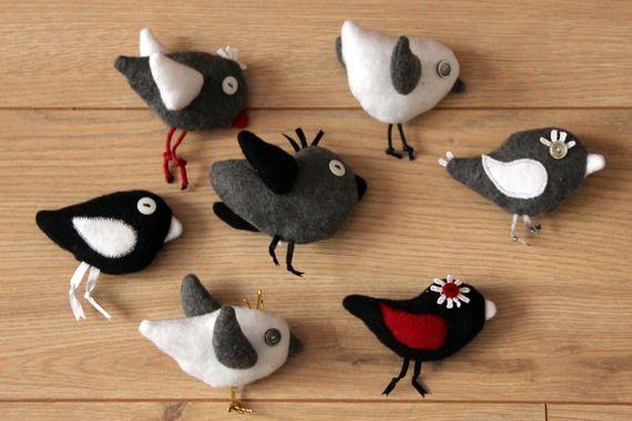 Kit pour créer des oiseaux en peluche à suspendre en mobile