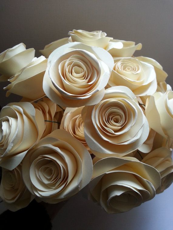 Hey, I found this really awesome Etsy listing at https://www.etsy.com/listing/184330163/creme-brulee-collection-2-paper-roses