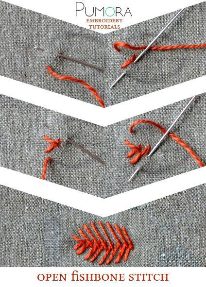 open fishbone stitch tutorial