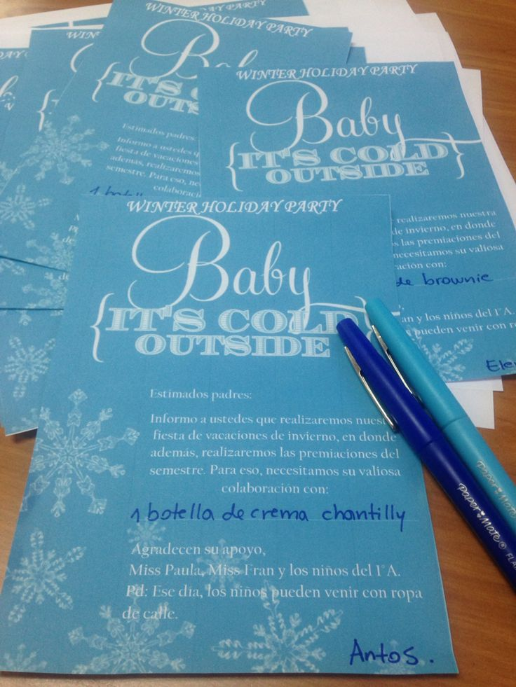 Winter Holidays Party Invitations!