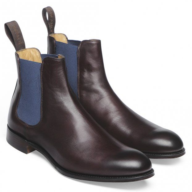 Cheaney Clara Ladies Chelsea Boot in Burgundy Calf Leather