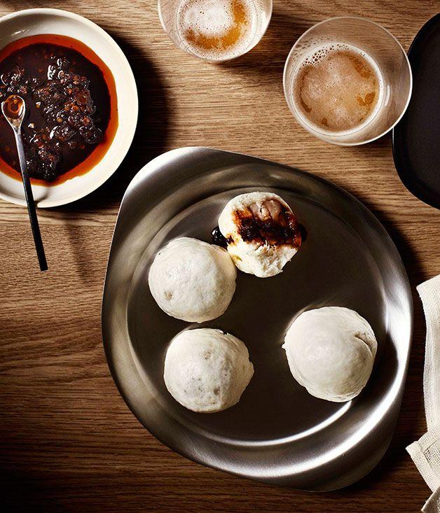 Steamed pork dumplings with Shanghai chilli vinegar - Gourmet Traveller