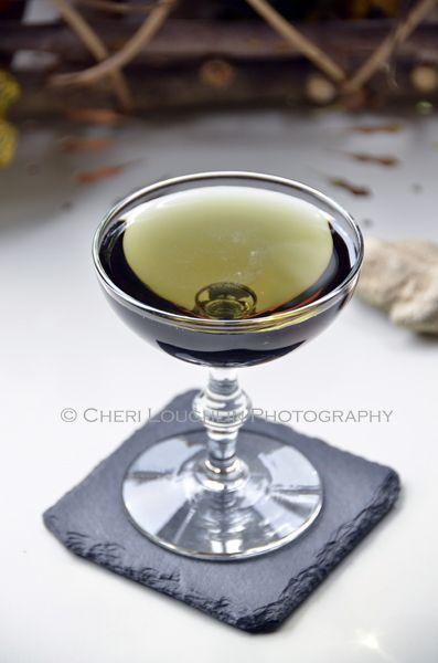 The Black Martini is more appropriately named the Emerald Dragon Cocktail since the ingredients turn a lovely shade of emerald green when mixed. Perfect for Halloween, Christmas or St. Patrick's Day. {photo credit: Mixologist Cheri Loughlin, The Intoxicologist. www.intoxicologist.net}