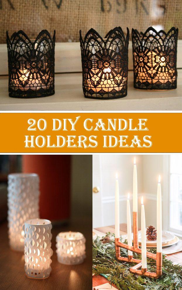 20 Creative & Beautiful DIY Candle Holders Ideas