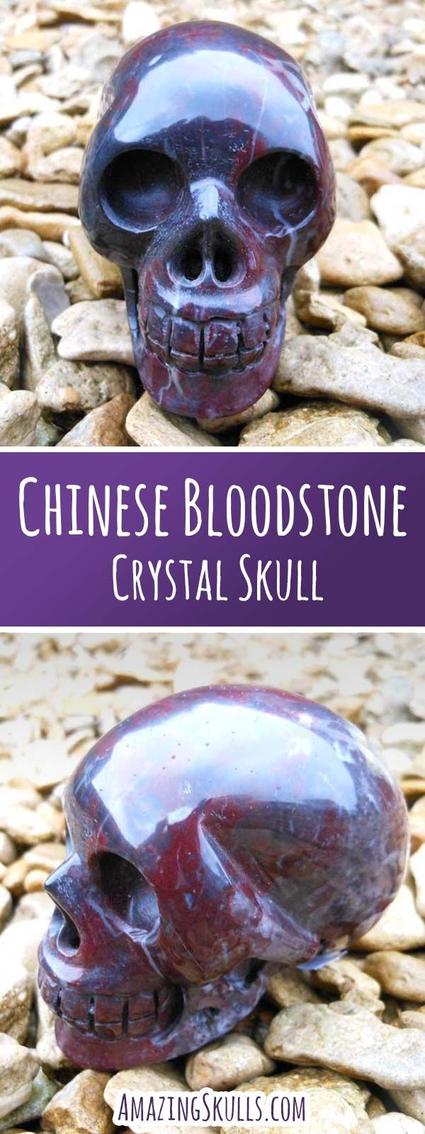 Bloodstone is  known as the stone of courage, Chinese Bloodstone, has a deep red colour to it, aiding in finding your inner strength and purpose, boosting your spirit and the courage to step forward in life. https://amazingskulls.com/products/chinese-bloodstone-crystal-skull?utm_source=Pinterest&utm_campaign=Chinese%20Bloodstone&utm_medium=Promoted%20Pin&utm_term=Chinese%20Bloodstone%20Crystal%20Skulls