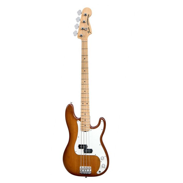 Fender USA Nitro Satin Series Precision Bass Honey Burst Maple Fingerboard