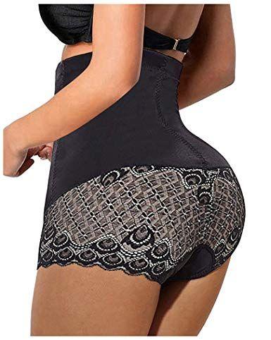85111148eca Nebility Women Butt Lifter Shapewear Seamless Waist Trainer Hi-Waist Tummy  Control Body Shaper Panty (S