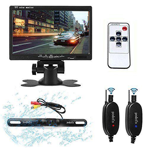 #marineelectronics Podofo Car Backup Camera Wireless Waterproof Vehicle Rearview Camera System
