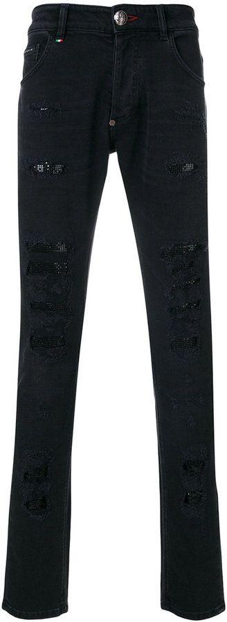 Philipp Plein Miyoko super straight cut jeans