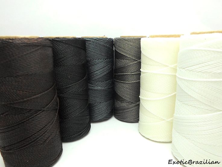 Macrame supplies, set of 6 colours, waxed polyester cord, black and white, neutral colours, black, sew leather, sew shoes, sew bags, cord by ExoticBrazilian on Etsy https://www.etsy.com/listing/238434583/macrame-supplies-set-of-6-colours-waxed