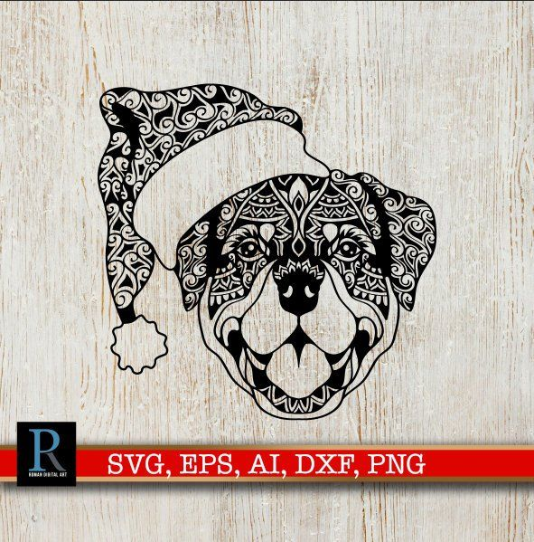 Mandala Christmas Rottweiler Svg Christmas Mandala Svg