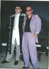 with Bernie Taupin  approx 1984