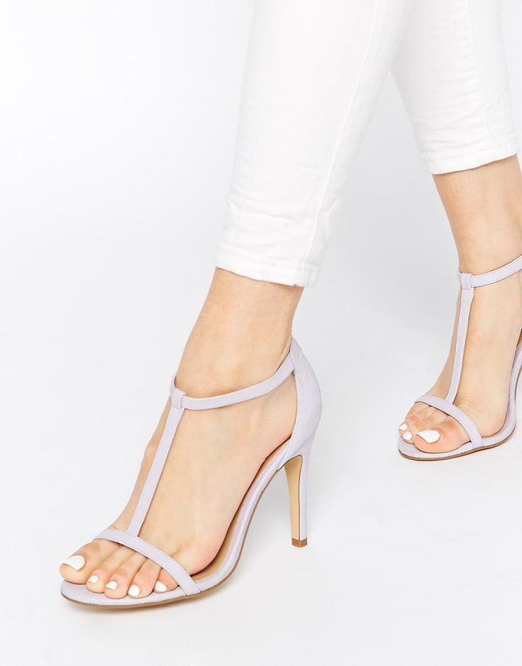 Light Lilac Low Heeled Shoes