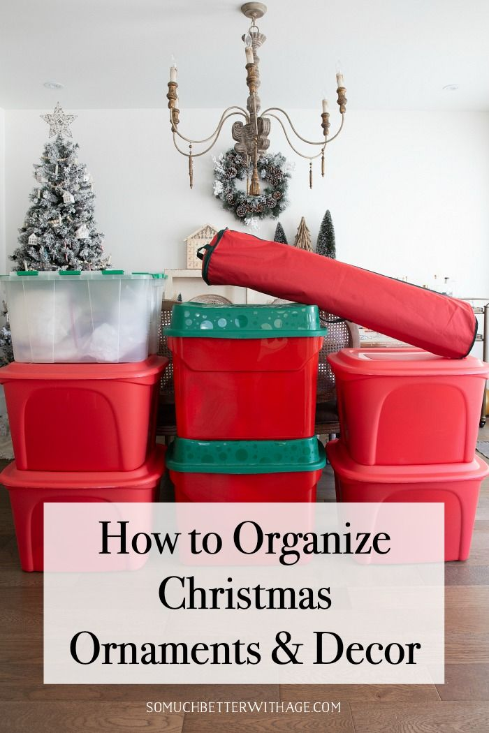 Orgaize Christmas 2020 How to Organize Christmas Ornaments and Decor | So Much Better