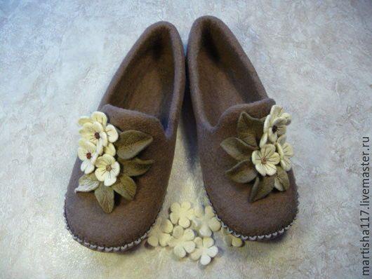 Обувь ручной работы. Заказать Уютные тапочки