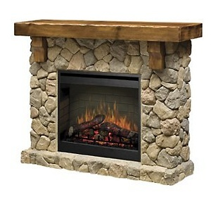 Dimplex® Fieldstone Free-Standing Electric Fireplace - Stonelook at HSN.com.