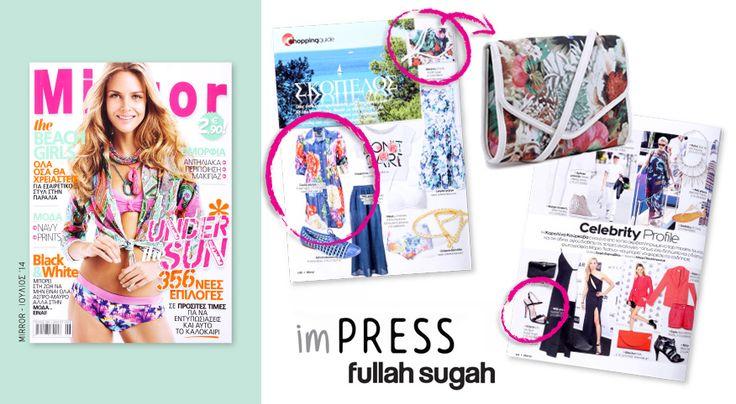 FULLAHSUGAH @ Mirror | Ιούλιος 2014  Flower print χιαστί φάκελος | 14361007 #fullah_sugah #fashion #trends #dresses #shoes #bags
