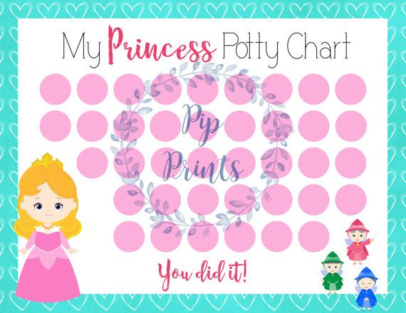 printable potty chart princess - zrom
