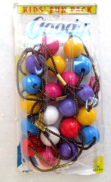 Vtg 80 S Goody 10 Twin Bead Large Pontailers