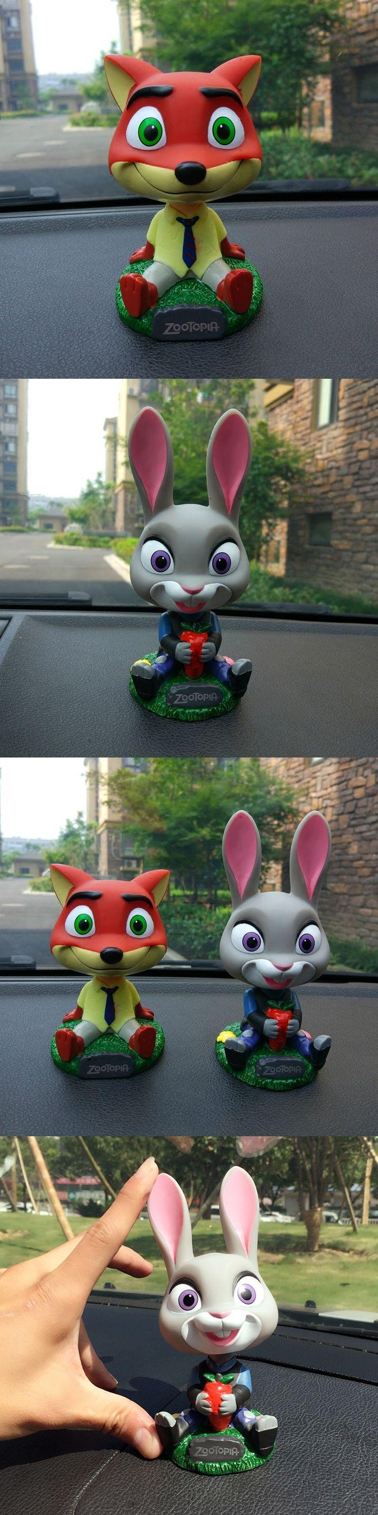 Zootopia Rabbit Judy Fox Nick Shake Head Ornament Car Decor Head Shaking Toys Auto Ornament Decoration