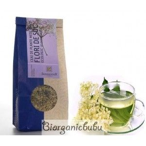Ceai ecologic Flori de Soc (Sambucus nigra), vrac, 80 g