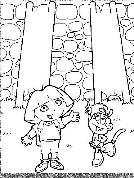 Dora the explorer coloring page print dora the explorer pictures to