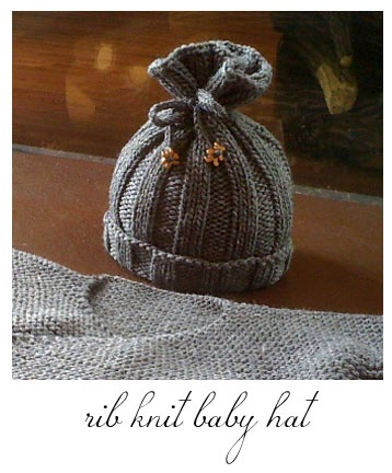 Knit baby hat!