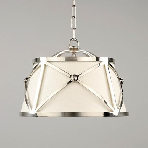 Menton Hanging Shade By Vaughan: Linen Lampshade Combined