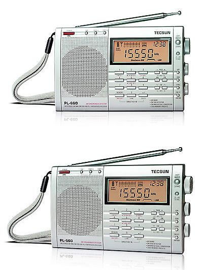 Portable AM FM Radios: Tecsun Pl660 Pll World Band Receiver Fm / Mw / Lw / Sw / Air Silver BUY IT NOW ONLY: $87.0